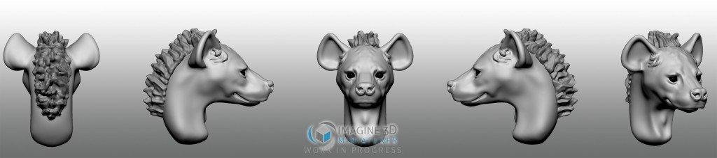 hiena cabeza para miniatura 28mm