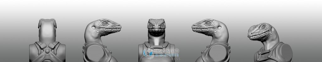 lagartija cabeza para miniatura 28mm